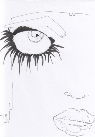 BLACK & WHITE – Black pen on white paper