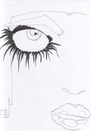 BLACK & WHITE – Black pen on whitepaper
